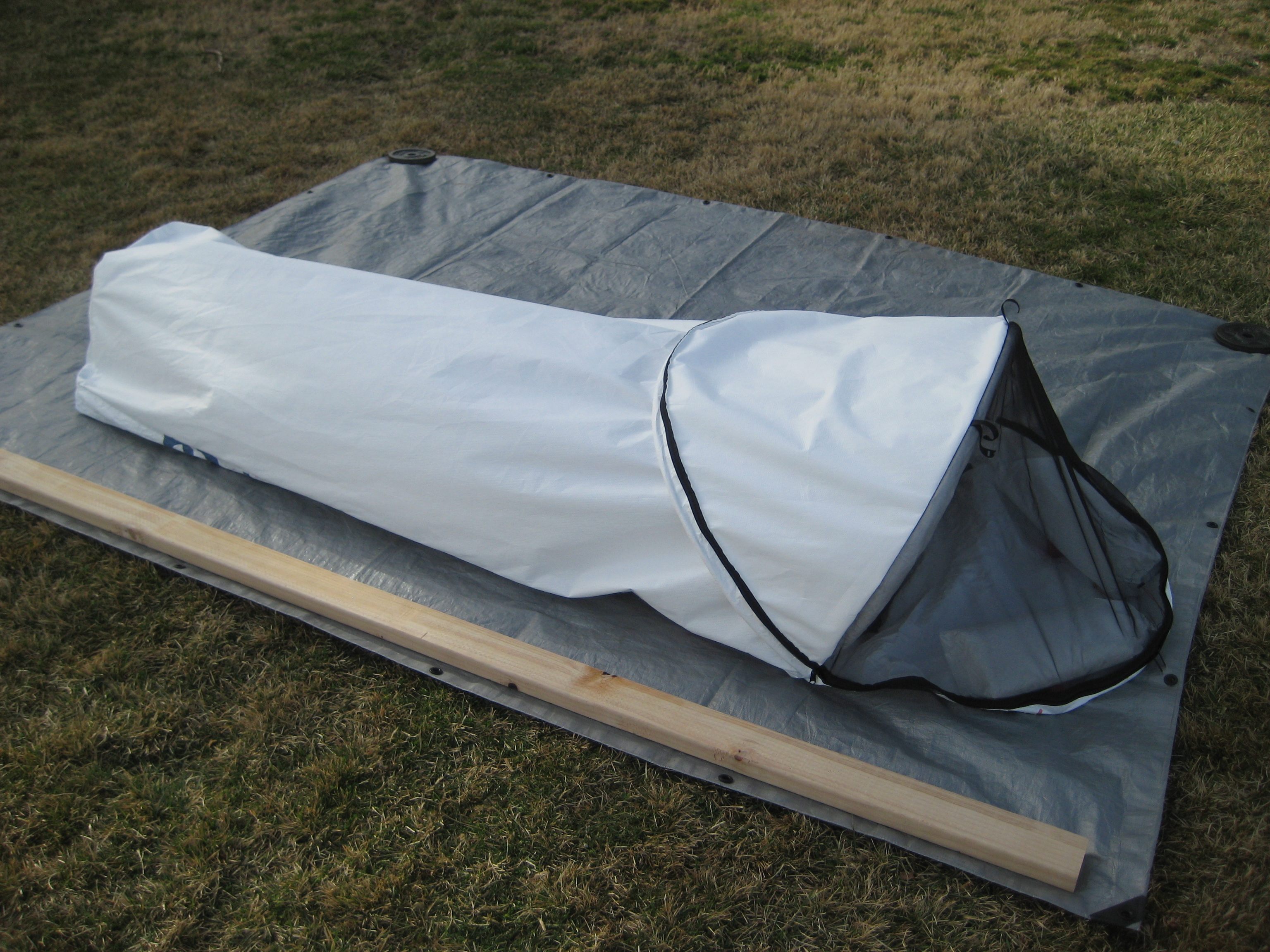 NEW! Sectional poles (17  sections) that are easier to pack ) & MilesGear - Uber Bivy